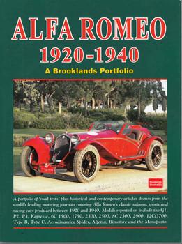 Alfa Romeo 1920-1940 A Brooklands Portfolio - front