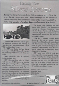 Racing The Silver Arrows: Mercedes-Benz versus Auto Union 1934 - 1939 2-disc DVD Set  - back