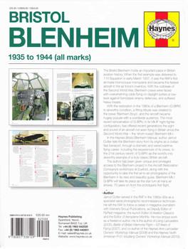 Bristol Blenheim 1935 to 1944 (all marks) Owners' Workshop Manual - back
