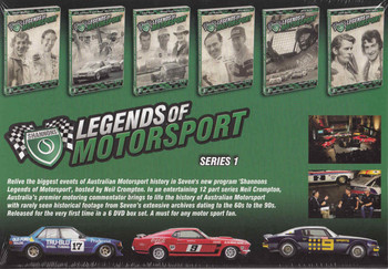 Legends Of Motorsport: Series 1 - 12 Episodes 6 Discs DVD Box Set  - back