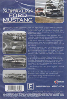 The Racing History of the Australian Ford Mustang DVD - back