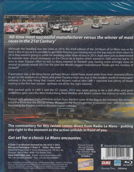 Le Mans 2015 The Official Review Bluray - back