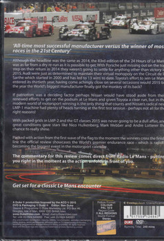 Le Mans 2015 The Official Review DVD  -back
