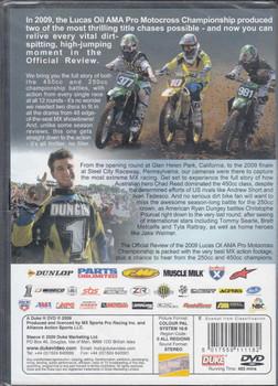 AMA Pro Racing Motocross Championship Review 2009 2-DVD Set - back