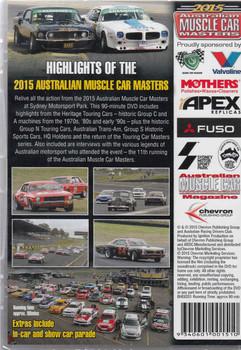 2015 Australian Muscle Car Masters DVD  - back