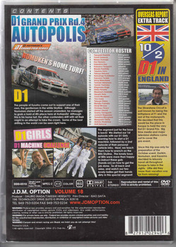 J.D.M. Option International Volume 18: 2005 D1 Autopolis DVD Back