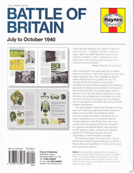 Battle of Britain July to October 1940 RAF Operation Manual Back