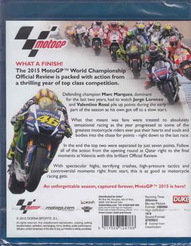 MotoGP 2015 World Championship Review Bluray - back
