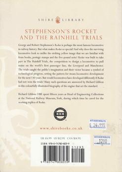 Stephenson's Rocket And The Rainhill Trials (9780747808039) - back