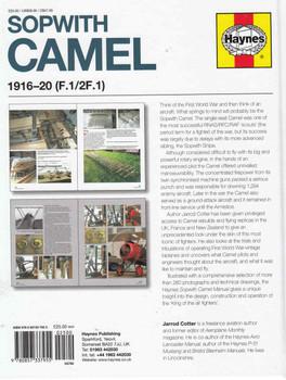 Sopwith Camel 1916 -20 (F.1/2F.1) Owners' Workshop Manual (9780857337955)  - back