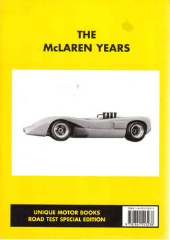 The McLaren Years (Unique Motor Books) (9781841553238) - back