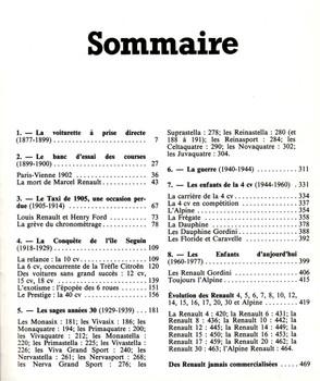 Renault, l'empire de Billancourt (Collection Prestige de l'automobile) (French Edition) (9782851200594) - cont