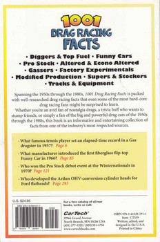 1001 Drag Racing Facts: The Golden Age Of Top Fuel, Funny Cars, Door Slammers & More (9781613251911) - back