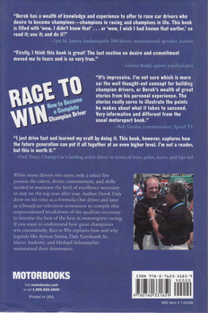 Race To Win: How To Become A Complete Champion Driver (9780760331859) - back