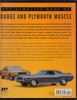 The Complete Book Of Dodge And Plymouth Muscle (9780760330791) - back