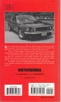 Mustang Red Book 1964 1/2 - 2004 - Fourth Edition (9780760319802) - back