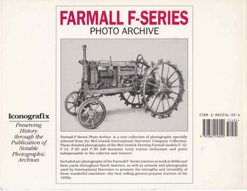 Farmall F-Series - Photo Archive Back