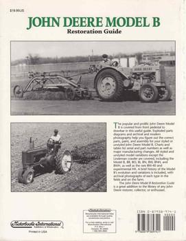 John Deere Model B: Restoration Guide (9780879389741 - back