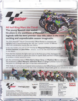MotoGP 2016 World Championship Review Bluray (5017559128586) - back