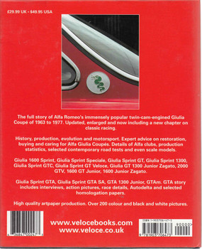 Alfa Romeo Giulia Coupe GT & GTA - Updated & Enlarged Second Edition (9781903706473) - back