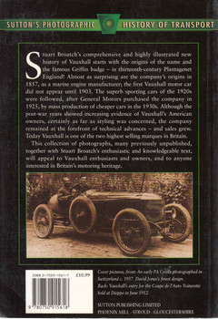 Vauxhall (Sutton's Photographic History Of Transport) (9780750915618) - back
