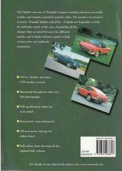 Triumph Spitfire and GT6: A Guide to Originality (9781861268617) - back