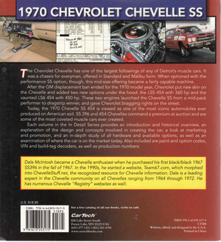 1970 Chevrolet Chevelle SS Muscle cars In Detail No 1 (9781613253175)