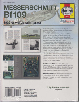 Messerschmitt Bf109 1935 onwards (all marks) Owners' Workshop Manual (Paperback Edition) (9780857338600)