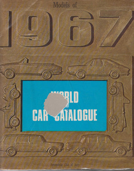 World Car Catalogue 1967 (B001E3DT5A)