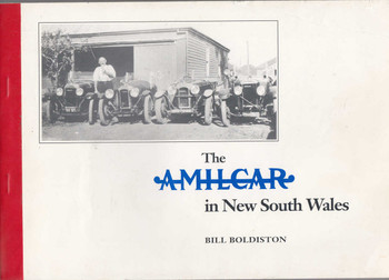 The Amilcar in New South Wales - Numbered Signed Paperback Edition (9780908048137)
