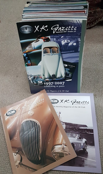 XK Gazette - The Monthly Magazine of the XK Club (50 magazine collection)