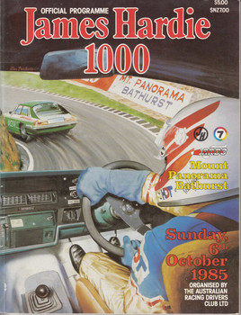 James Hardie 1000 Official Programme, Sunday 6 October 1985