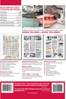 Honda CBF125 & CB125F 2009 - 2017 Workshop Manual