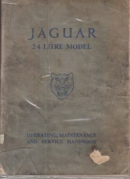 Jaguar 2.4 and 3.4 Litre Model Operating, Maintenance and Service Handbook Workshop Manual