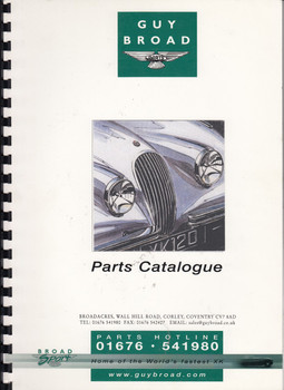 Jaguar XK120 Parts Catalogue