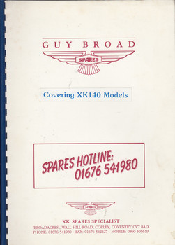 Jaguar XK140 Parts Catalogue