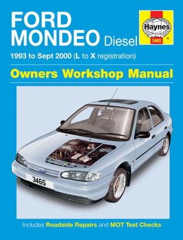 Ford Mondeo Diesel 1993 - to Sept  2000 (L to X Registration) Owners Workshop Manual