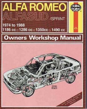 Alfa Romeo Alfasud, Sprint 1974 - 1988 Workshop Manual