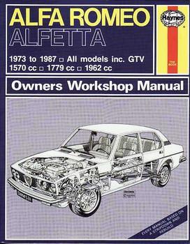 Alfa Romeo Alfetta, All Models including GTV 1973 - 1987 Workshop Manual