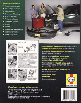 Dodge   Plymouth   Chrysler Town Mini-vans 1996 - 2002 Workshop Manual
