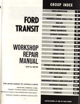 Ford Transit Workshop Manual
