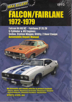 Ford Falcon XA-XB-XC , Fairlane ZF, ZG, ZH 1972 - 1979 Workshop Manual - front