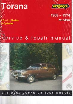 Holden Torana LC - LJ - 6 Cylinder 1969 - 1974 Workshop Manual  - front