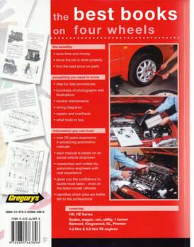Holden V8 Engines 1976 - 1980 Workshop Manual back cover