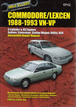 holden commodore amp toyota lexcen v6 and v8 1993 1997 workshop rh automotobookshop com au vr commodore repair manual vn commodore owners manual