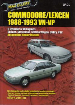 Holden Commodore & Toyota Lexcen VN VP 1988 - 1993 Workshop Manual