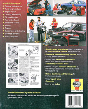 Holden Commodore Series VL 1986 - 1988 Workshop Manual