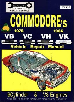 Holden Commodore VB VC VH VK 1978 - 1986 Workshop Manual