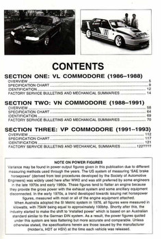 Holden Commodore Performance HandBook from VL - VP 1986 - 1993