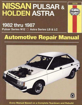 nissan pulsar amp holden astra 1987 1991 workshop manual rh automotobookshop com au Old Nissan Pulsar 1985 Nissan Pulsar